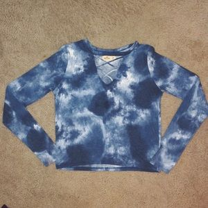 Cross cross tie die long sleeve